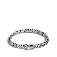 John Hardy Dot Deco Gold and Silver Small Bracelet