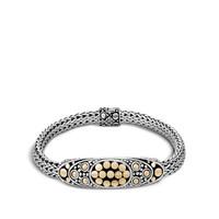 John Hardy Dot Jaisalmer Gold and Silver Oval Station Bracelet