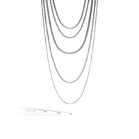 John Hardy Classic Chain Silver Five Row Strand Necklace