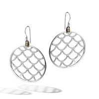 John Hardy Legends Naga Gold and Silver Large Round Earrings