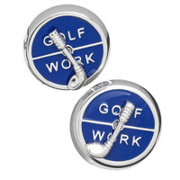 Jan Leslie Sterling Silver Work or Golf Spinner Cufflinks