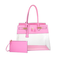 Augustina's Fun Tote in Baby Pink