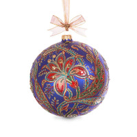 Jay Strongwater 2017 Opulent Glass Ornament