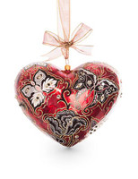 Jay Strongwater Butterfly Nouveau Artisan Heart Ornament