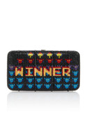 Judith Leiber Couture Game Over Smooth Rectangle Clutch