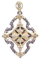 Armenta Open cross Enhancer Pendant with Diamonds