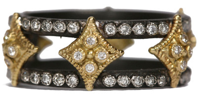 Armenta Wide Double Cravelli Band Ring