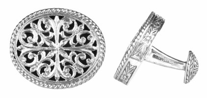 Konstantino Sterling Silver Carved Cufflinks