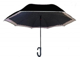 Patrizia Luca Black Smart Umbrella