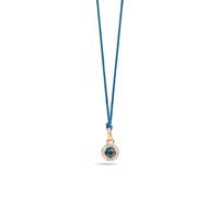 Pomellato M'ama Non M'ama London Blue Topaz Necklace with Pendant