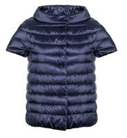 """Herno Blue Iconico """"Emilia"""" Short Sleeve Puffer Jacket"""
