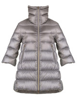 """Herno Inox Iconico """"Cleofe"""" Quilted Puffer Jacket"""