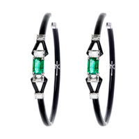 Nikos Koulis Oui Earrings with Emeralds