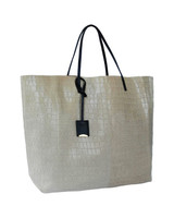 Linde Gallery Gouverneur Ivory Alligator Embossed Medium Tote