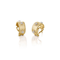 Buccellati Macri Classica 18k Gold Diamond Earrings