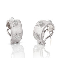 Buccellati Macri Classica 18k White Gold Diamond Earrings