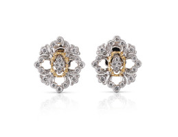 Buccellati Opera Full Pavé Button Diamond Earrings