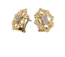 Buccellati Opera 18k Gold Diamond Earrings