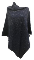 Augustina's Embellished Poncho in Navy