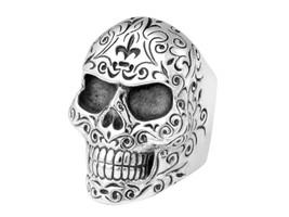 King Baby Studio Engraved Skull Ring