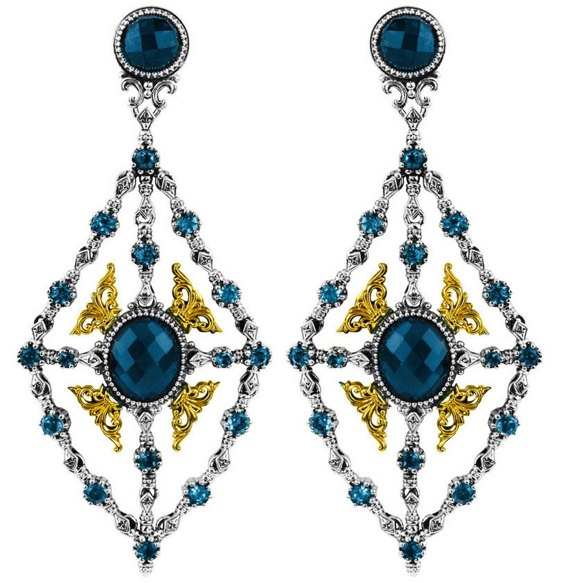 Konstantino london blue topaz chandelier earrings skmk3039 298 cutroq konstantino london blue topaz chandelier earrings aloadofball Image collections