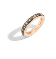 Iconica Ring in Rose Gold with Black Diamonds