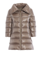 """Herno Taupe Iconico """"Cleofe"""" Quilted Puffer Jacket"""