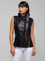 Anatomie Iris Moto Leather Vest Black