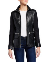 Anatomie Edith Leather Zip Front Jacket