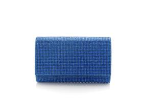 Judith Leiber Couture Fizzy Capri Blue Crystal-Embellished Clutch Bag