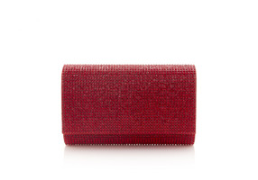Judith Leiber Couture Fizzy Red Crystal-Embellished Clutch Bag