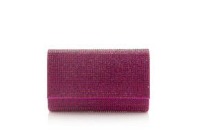 Judith Leiber Couture Fizzy Fuchsia Crystal-Embellished Clutch Bag