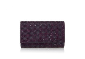 Judith Leiber Couture Fizzy Plum Crystal-Embellished Clutch Bag