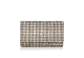 Judith Leiber Couture Fizzy Champagne Crystal-Embellished Clutch Bag