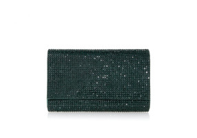Judith Leiber Couture Fizzy Emerald Crystal-Embellished Clutch Bag