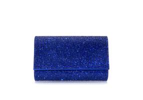 Judith Leiber Couture Fizzy Cobalt Crystal-Embellished Clutch Bag
