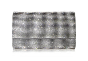 Judith Leiber Couture Fizzoni Silver Crystal-Embellished Clutch Bag