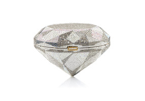 Judith Leiber Couture Diamond Flawless Crystal Clutch Bag