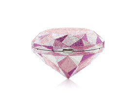 Judith Leiber Couture Diamond Pink Crystal Clutch Bag