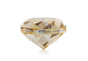 Judith Leiber Couture Diamond Canary Crystal Clutch Bag