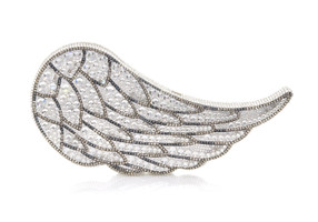 Judith Leiber Couture Crystal-Covered Wing Angel Clutch Bag