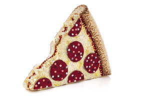 Judith Leiber Couture Pepperoni Pizza Crystal Clutch Bag