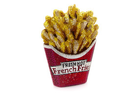Judith Leiber Couture Fresh Hot French Fries Crystal Clutch Bag