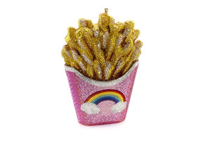 Judith Leiber Couture Rainbow French Fries Crystal Clutch Bag
