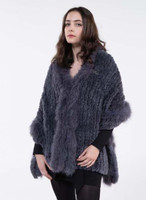 Paula Lishman Anthracite Sheared Beaver Shawl with Fox Trim