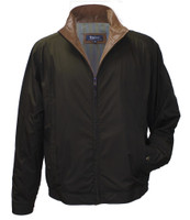 Remy Leather Men's Leather & Fabric Water-Resistant Black Jacket