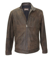 Remy Leather Men's Lightweight Lambskin Leather Moto Jacket