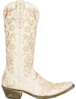 Old Gringo Clarise Boots Crackled White