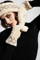 Paula Lishman Hand Knit Sheared Beaver Fur Headband and Mitten