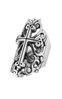 King Baby Studio Women's Traditional Cross Ring